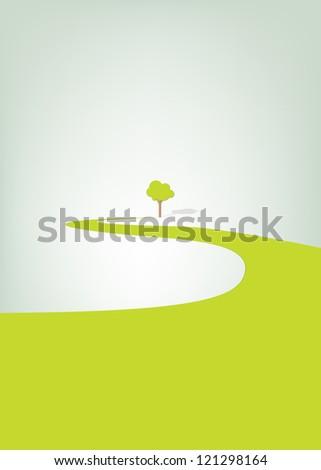 Poster go green - stock vector