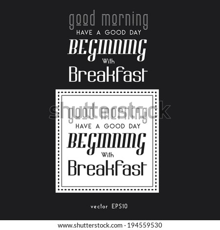 Poster lettering Good morning!