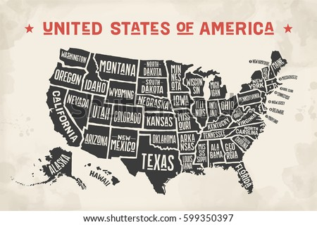 Us Map Stock Images RoyaltyFree Images Vectors Shutterstock - Hand drawn us map vector