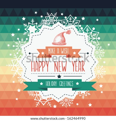 Poster Merry Christmas.Typography.Vector illustration. - stock vector