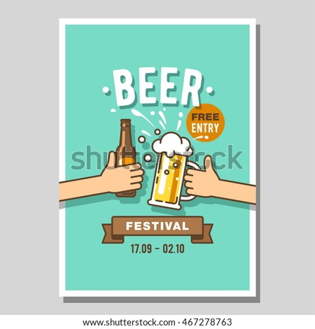 Poster of beer festival.