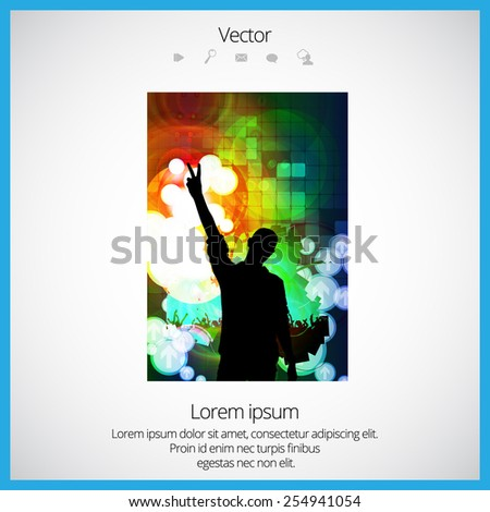 Poster of dancing party. Vector illustration - stock vector