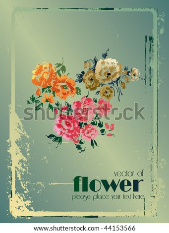 poster of flower 2 of 2 - stock vector