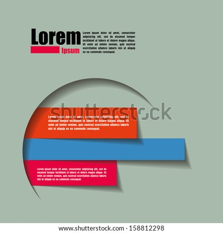 Poster Template. Design template for you text. - stock vector