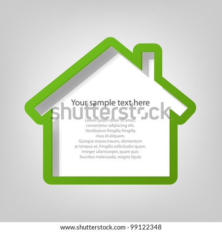 poster template. house - stock vector