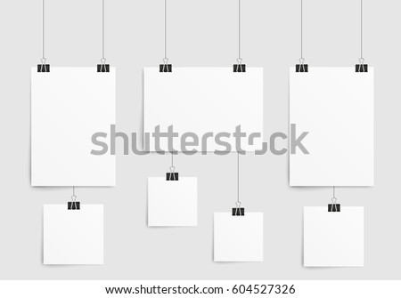 Poster Template Paper Sheet Collection Empty Stock Vector ...