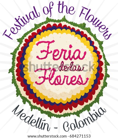 Poster Beautiful Floral Silleta Colombian Flag Stock Vector ...