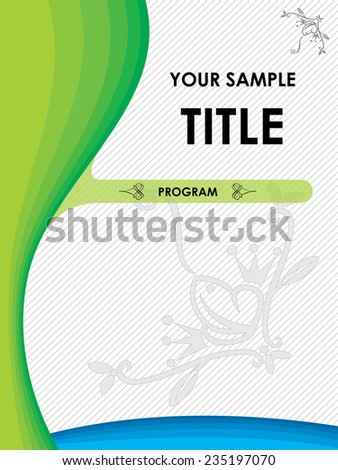 Poster with floral motif - stock vector