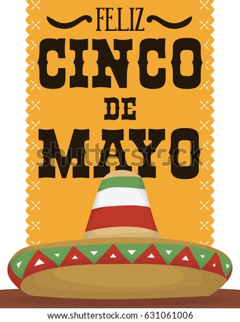 Poster greeting message mexican celebration cinco stock vector poster with greeting message for mexican celebration of cinco de mayo written in spanish m4hsunfo
