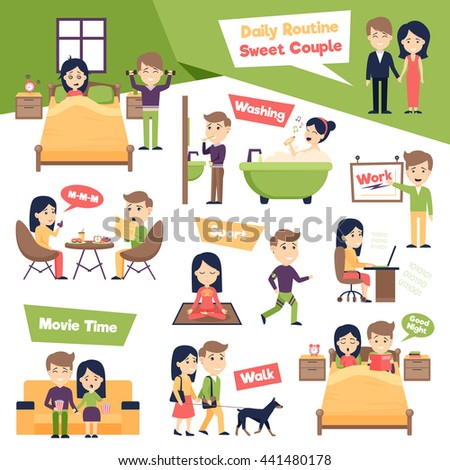 daily routine stock images royaltyfree images amp vectors