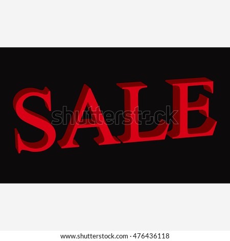 Poster with Sale tag. Vector design