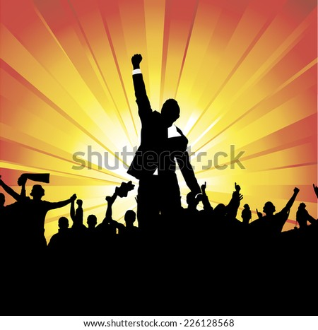 Posters for a successful business - stock vector