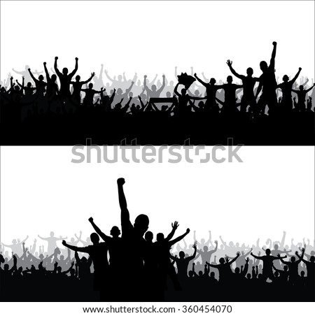 Posters for sports championships and music concerts - stock vector