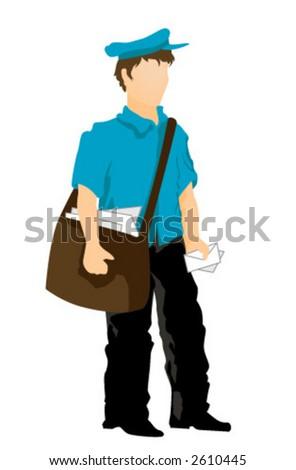 Postman - Vector - stock vector