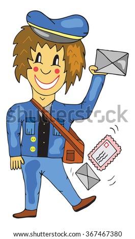 postman vector illustration  - stock vector