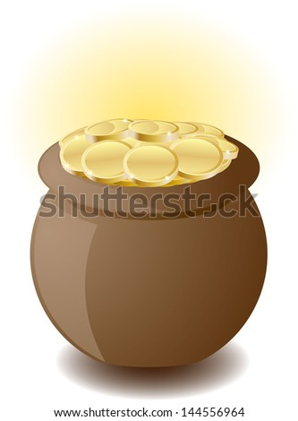 Pot of Gold - stock vector