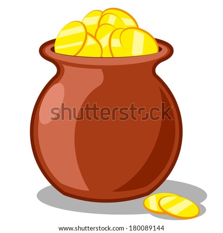 Pot of Gold (St. Patrick's Day) vector - stock vector