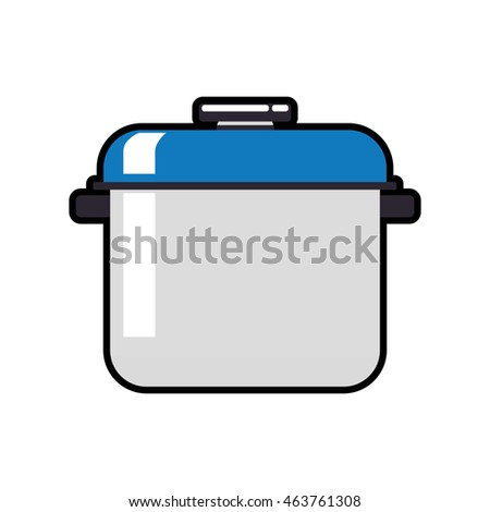 pot supply house electric appliance icon. Isolated and flat illustration. Vector graphic