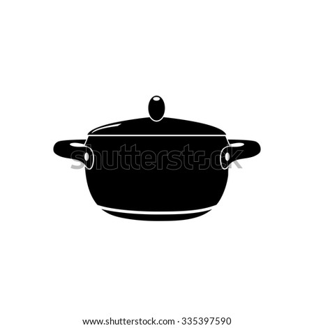 Pot with lid vector illustration  - stock vector