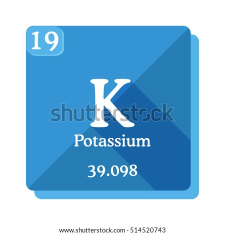 Potassium k element periodic table flat stock vector royalty free potassium k element of the periodic table flat icon with long shadow urtaz Choice Image