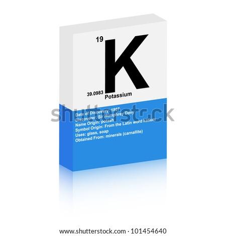 potassium symbol - stock vector