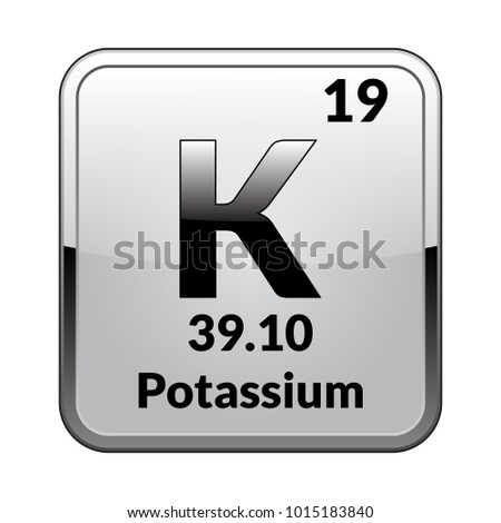Potassium Symbol Chemical Element Periodic Table On Stock Vector