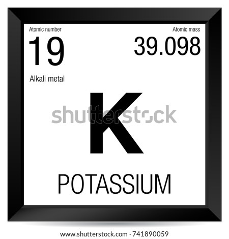Potassium symbol element number 19 periodic stock vector royalty element number 19 of the periodic table of the elements chemistry urtaz Image collections