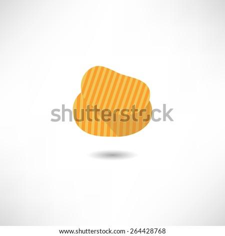 Potato chips icon - stock vector