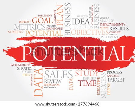 Potential word cloud, business concept - stock vector
