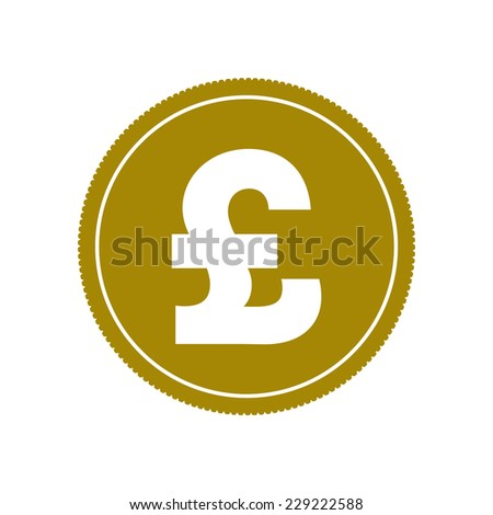 Pound coin, vector illustration - stock vector