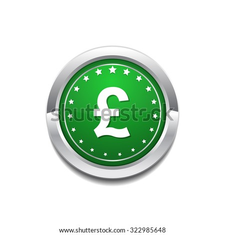 Pound Currency Sign Circular Vector GreenWeb Icon Button