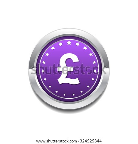 Pound Currency Sign Circular Vector Purple Web Icon Button