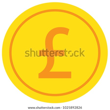 Pound Pound Sterling Currency Icon Logo Stock Vector 1025892826