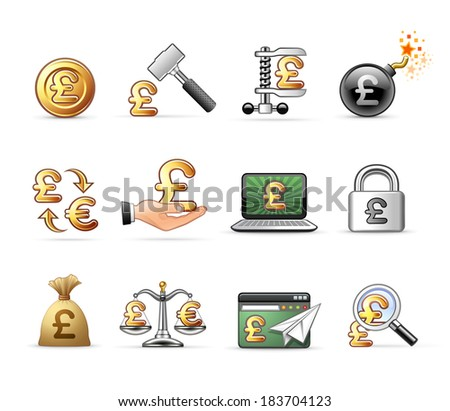 Pound Sterling Symbols - Professional Icon Set