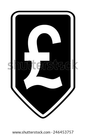 Pound symbol button on white background. Vector illustration.