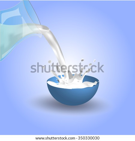 Pouring milk in a jar