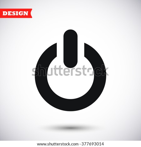 Power button icon, power button pictograph, power button web icon, power button icon vector, power button icon eps, power button icon illustration, power button icon picture, power button flat icon - stock vector