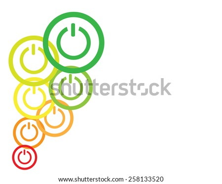 Power button icons as energy efficiency concept - stock vector