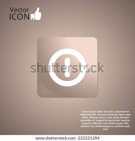 Power button on the background. Made in vector