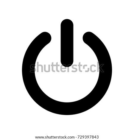 power button vector icon stock vector 729397843 shutterstock rh shutterstock com power button vector free download power button vector download