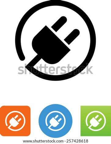 Power cord symbol for download. Vector icons for video, mobile apps, Web sites and print projects.  - stock vector