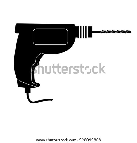 power drill tool icon image vector illustration design