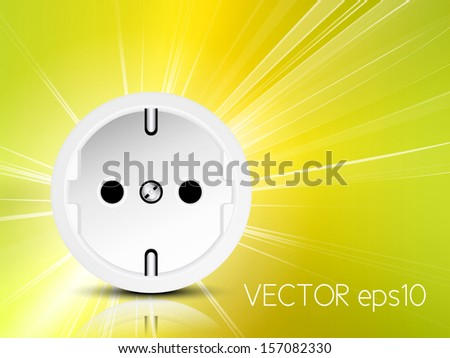 Power energy - electricity background - stock vector