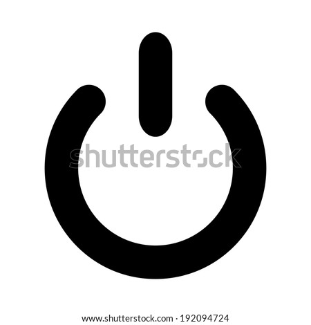 Power icon on white background. - stock vector
