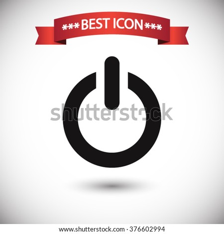 Power icon vector, power icon eps10, power icon picture, power icon flat design, power icon, power web icon, power icon art, power icon drawing, power icon, power icon jpg, power icon object - stock vector