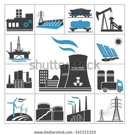 Power icons - stock vector