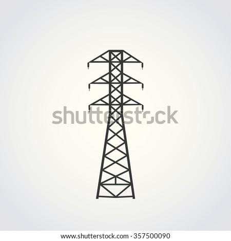 POWER LINE illustration vector - stock vector