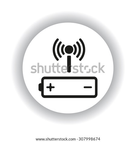 power management through a wi-fi network. icon. vector design - stock vector