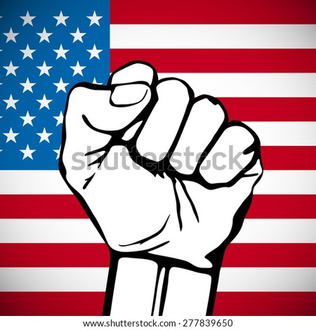 Power of Liberty, concept with USA flag background. art - stock vector