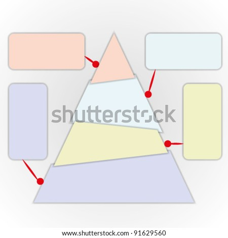 Power of thinking by triangle chart. - stock vector